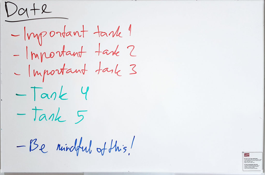 The whiteboard system in my office