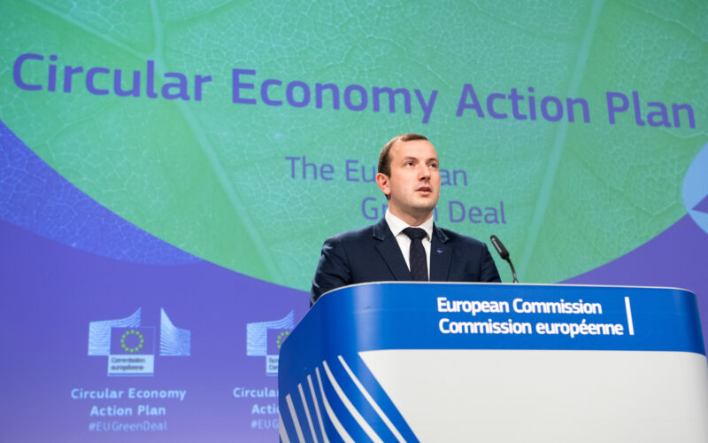 Press conference by Virginijus Sinkevičius, European Commissioner in charge of the Environment, Oceans and Fisheries, on the Circular Economy action plan.