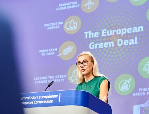 Energeetikavolinik Kadri Simson 2030 kliimaplaani esitlusel